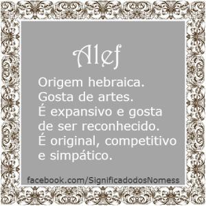 Significado do nome Alef