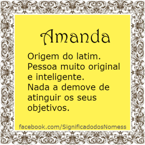 Significado do nome Amanda