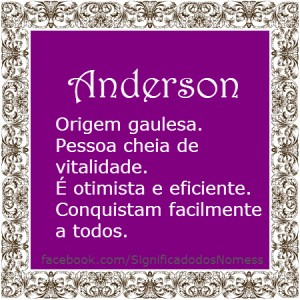 Significado do nome Anderson