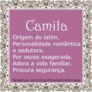 Significado do nome Camila