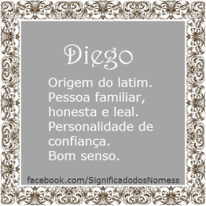 Significado do nome Diego