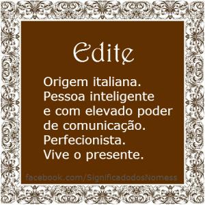 Edite