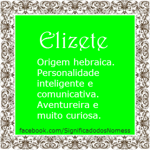 Significado do nome Elizete