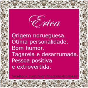 Significado do nome Erica