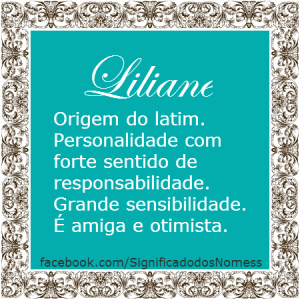 Significado do nome Liliane