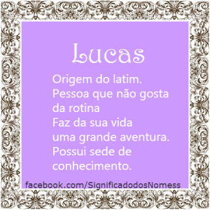 Significado do nome Lucas