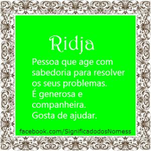 Ridja