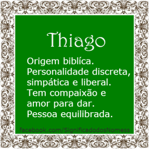 Significado do nome Thiago