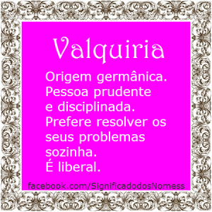 Significado do nome Valquiria