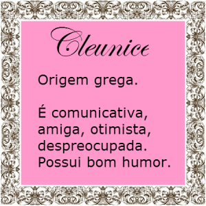 Significado do nome Cleunice