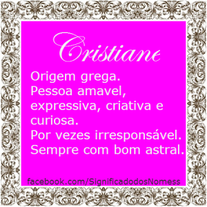 Significado do nome Cristiane