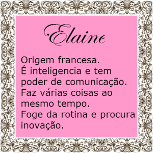 Significado do nome Elaine