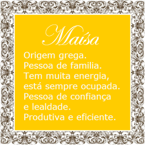 Significado do nome Maisa