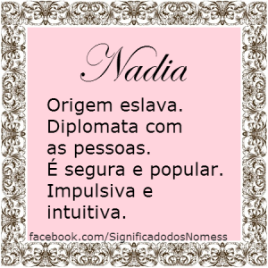 Significado do nome Nadia