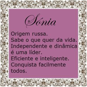 sónia