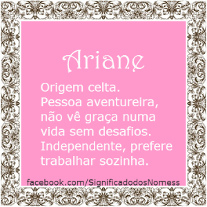 Significado do nome Ariane