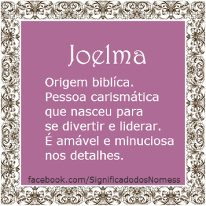 Significado do nome Joelma