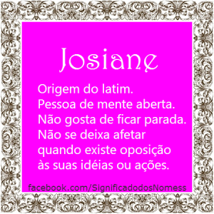 Significado do nome Josiane