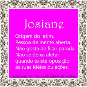 Significado do nome Josiane