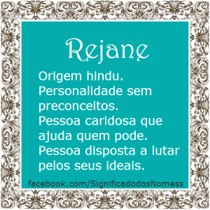 Significado do nome Rejane