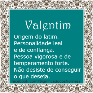 Significado do nome Valentim