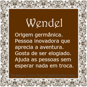 Significado do nome Wendel