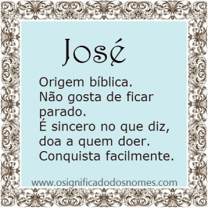 Significado do nome José