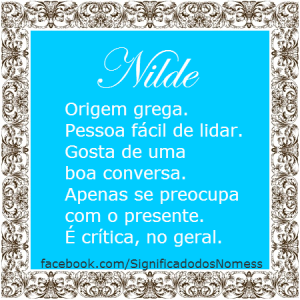 Significado do nome Nilde
