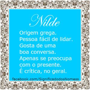 Significado do nome Nilde