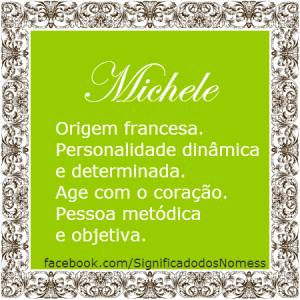 Significado do nome Michele