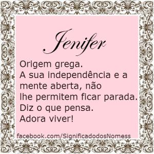 significado do nome jenifer