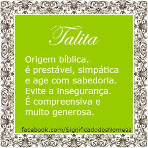 significado do nome talita