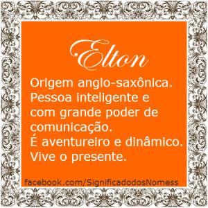Significado do nome elton