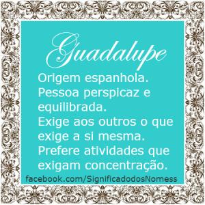 Significado do nome guadalupe