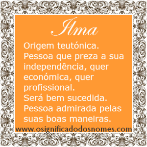 Significado do nome ilma