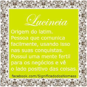 Significado do nome lucineia