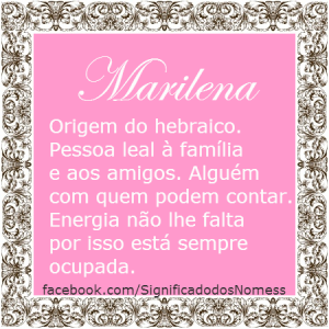 Significado do nome marilene