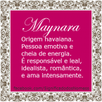 Significado do nome maynara