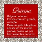 Significado do nome quirina