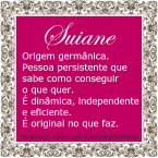 Significado do nome suiane