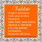Significado do nome valdete