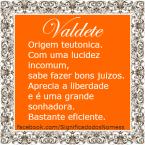 Significado do nome valdete