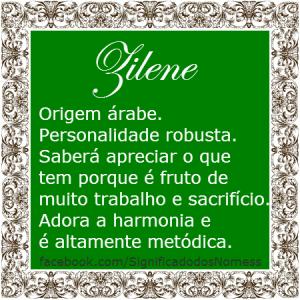 Significado do nome zilene