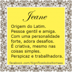 significado do nome Jeane