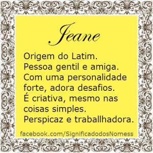 significado do nome Jeane